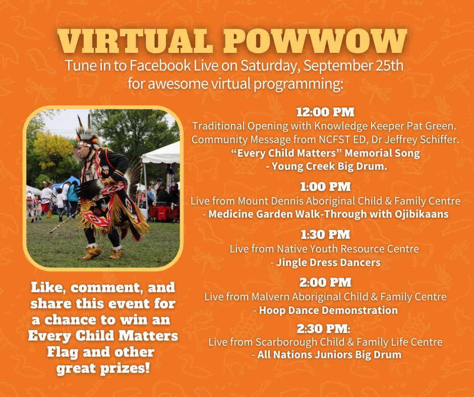 24th Annual Community Pow wow virtual event and giveaway day