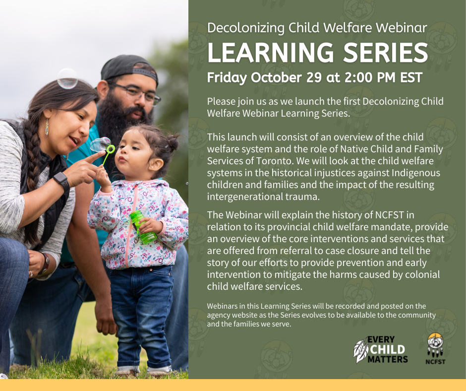 Decolonizing Child Welfare Learning Series Graphic